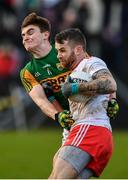 9 February 2020; Ronan McNamee of Tyrone in action against Seán O'Shea of Kerry during the Allianz Football League Division 1 Round 3 match between Tyrone and Kerry at Healy Park in Omagh, Tyrone. Photo by David Fitzgerald/Sportsfile