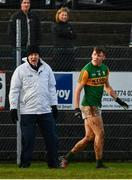 9 February 2020; David Clifford of Kerry remonstrates with a sideline official after being sent off during the Allianz Football League Division 1 Round 3 match between Tyrone and Kerry at Healy Park in Omagh, Tyrone. Photo by David Fitzgerald/Sportsfile