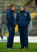 9 February 2020; Meath manager Andy McEntee, left, and selector Colm Nally prior to the Allianz Football League Division 1 Round 3 match between Meath and Mayo at Páirc Tailteann in Navan, Meath. Photo by Seb Daly/Sportsfile