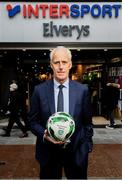 10 February 2020; The Football Association of Ireland are delighted to announce a new partnership with the leading Irish sports retailer INTERSPORT Elverys, as the new title sponsor of the FAI Summer Soccer Schools. Pictured at the announcement is Republic of Ireland manager Mick McCarthy at INTERSPORT Elverys, Henry Street in Dublin. Photo by Stephen McCarthy/Sportsfile