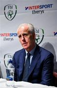 10 February 2020; The Football Association of Ireland are delighted to announce a new partnership with the leading Irish sports retailer INTERSPORT Elverys, as the new title sponsor of the FAI Summer Soccer Schools. Republic of Ireland manager Mick McCarthy during a press conference at INTERSPORT Elverys, Henry Street in Dublin. Photo by Harry Murphy/Sportsfile