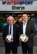 10 February 2020; The Football Association of Ireland are delighted to announce a new partnership with the leading Irish sports retailer INTERSPORT Elverys, as the new title sponsor of the FAI Summer Soccer Schools. Pictured at the announcement is Republic of Ireland manager Mick McCarthy and FAI Interim Deputy Chief Executive Niall Quinn at INTERSPORT Elverys, Henry Street in Dublin. Photo by Stephen McCarthy/Sportsfile