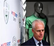 10 February 2020; The Football Association of Ireland are delighted to announce a new partnership with the leading Irish sports retailer INTERSPORT Elverys, as the new title sponsor of the FAI Summer Soccer Schools. Pictured during a press conference at the announcement is Republic of Ireland manager Mick McCarthy at INTERSPORT Elverys, Henry Street in Dublin. Photo by Stephen McCarthy/Sportsfile