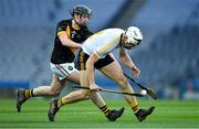 18 January 2020; Daniel Moynihan of Russell Rovers in action against Darren Cuddihy of Conahy Shamrocks during the AIB GAA Hurling All-Ireland Junior Club Championship Final between Russell Rovers and Conahy Shamrocks at Croke Park in Dublin. Photo by Piaras Ó Mídheach/Sportsfile