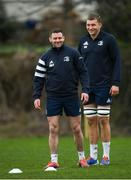 10 February 2020; Fergus McFadden, left, and Ross Molony during Leinster Rugby squad training at UCD, Dublin. Photo by Ramsey Cardy/Sportsfile