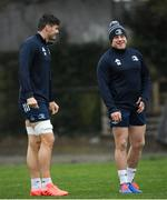 10 February 2020; Max Deegan, left, and Seán Cronin during Leinster Rugby squad training at UCD, Dublin. Photo by Ramsey Cardy/Sportsfile