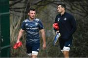 10 February 2020; Will Connors, left, and Max Deegan during Leinster Rugby squad training at UCD, Dublin. Photo by Ramsey Cardy/Sportsfile