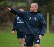 10 February 2020; Senior coach Stuart Lancaster during Leinster Rugby squad training at UCD, Dublin. Photo by Joseph Walsh/Sportsfile