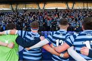 10 February 2020; St Vincent's Castleknock College players and supporters celebrate after the Bank of Ireland Leinster Schools Senior Cup Second Round match between Belvedere College and St Vincent's Castleknock College at Energia Park in Dublin. Photo by Piaras Ó Mídheach/Sportsfile