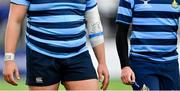 "10 February 2020; ""Don't Stop"" written on the strapping on the arm of Ben Griffin of St Vincent's Castleknock College during the Bank of Ireland Leinster Schools Senior Cup Second Round match between Belvedere College and St Vincent's Castleknock College at Energia Park in Dublin. Photo by Piaras Ó Mídheach/Sportsfile"