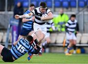 10 February 2020; Jonathan Sargent of Belvedere College is tackled by Conor Delaney of St Vincent's Castleknock College during the Bank of Ireland Leinster Schools Senior Cup Second Round match between Belvedere College and St Vincent's Castleknock College at Energia Park in Dublin. Photo by Piaras Ó Mídheach/Sportsfile