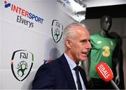 10 February 2020; The Football Association of Ireland are delighted to announce a new partnership with the leading Irish sports retailer INTERSPORT Elverys, as the new title sponsor of the FAI Summer Soccer Schools. Republic of Ireland manager Mick McCarthy in attendance at INTERSPORT Elverys, Henry Street in Dublin. Photo by Stephen McCarthy/Sportsfile