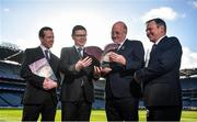 11 February 2020; In attendance are Uachtarán Chumann Lúthchleas Gael John Horan alongside, from left, Director of Finance of the GAA Ger Mulryan, Ard Stiúrthóir of the GAA Tom Ryan and Commercial Director of the GAA and Croke Park Stadium Director Peter McKenna during the GAA/Croke Park Financial Reports and Director General's Annual Report Media Briefing at the GAA Museum in Croke Park, Dublin. Photo by David Fitzgerald/Sportsfile