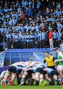 11 February 2020; St Michaels College supporters during the Bank of Ireland Leinster Schools Senior Cup Second Round match between Gonzaga College and St Michaels College at Energia Park in Dublin. Photo by Ramsey Cardy/Sportsfile