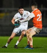 8 February 2020; David Hyland of Kildare in action against Aidan Nugent of Armagh during the Allianz Football League Division 2 Round 3 match between Armagh and Kildare at Athletic Grounds in Armagh. Photo by Piaras Ó Mídheach/Sportsfile