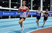 25 January 2020; Thomas Mc Stay of Galway City Harriers AC, competing in the U23 Men's 800m  during the Irish Life Health National Indoor Junior and U23 Championships at the AIT Indoor Arena in Athlone, Westmeath. Photo by Sam Barnes/Sportsfile