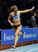 25 January 2020; Ciara Neville of Emerald AC, Limerick, competing in the U23 Women's 200m  during the Irish Life Health National Indoor Junior and U23 Championships at the AIT Indoor Arena in Athlone, Westmeath. Photo by Sam Barnes/Sportsfile