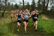 12 February 2020; Shay McEvoy of St Kieran's Kilkenny, centre, leads the pack on his way to winning the Senior Boys race during the Irish Life Health Leinster Schools' Cross Country Championships 2020 at Santry Demesne in Dublin. Photo by David Fitzgerald/Sportsfile