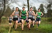 12 February 2020; A general view of runners competing in the Senior Boys race during the Irish Life Health Leinster Schools' Cross Country Championships 2020 at Santry Demesne in Dublin. Photo by David Fitzgerald/Sportsfile