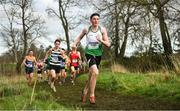 12 February 2020; Cathal Dowd of St Peter's, Wexford, competing in the Senior Boys race during the Irish Life Health Leinster Schools' Cross Country Championships 2020 at Santry Demesne in Dublin. Photo by David Fitzgerald/Sportsfile