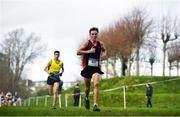 12 February 2020; Scott Fagan of Luttrellstown Community College on his way to winning the Intermediate Boys race during the Irish Life Health Leinster Schools' Cross Country Championships 2020 at Santry Demesne in Dublin. Photo by David Fitzgerald/Sportsfile