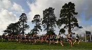 12 February 2020; A general view of the start of the Senior Girls race during the Irish Life Health Leinster Schools' Cross Country Championships 2020 at Santry Demesne in Dublin. Photo by David Fitzgerald/Sportsfile