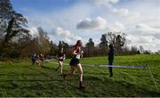 12 February 2020; Katie Greene of St Peter's Dunboyne competing in the Senior Girls race during the Irish Life Health Leinster Schools' Cross Country Championships 2020 at Santry Demesne in Dublin. Photo by David Fitzgerald/Sportsfile