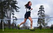 12 February 2020; Sibeal Cherry of Loreto Dalkey competing in the Intermediate Girls race during the Irish Life Health Leinster Schools' Cross Country Championships 2020 at Santry Demesne in Dublin. Photo by David Fitzgerald/Sportsfile