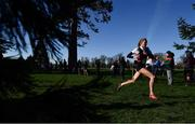 12 February 2020; Lily Sheehy of Dominican College Wicklow during the Junior Girls race during the Irish Life Health Leinster Schools' Cross Country Championships 2020 at Santry Demesne in Dublin. Photo by David Fitzgerald/Sportsfile