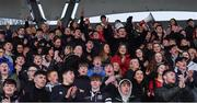 12 February 2020; Newbridge College supporters after the Bank of Ireland Leinster Schools Senior Cup Second Round match between Kilkenny College and Newbridge College at Energia Park in Dublin. Photo by Piaras Ó Mídheach/Sportsfile