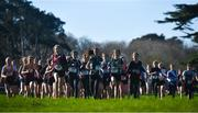 12 February 2020; A general view of runners competing in the Minor Girls race during the Irish Life Health Leinster Schools' Cross Country Championships 2020 at Santry Demesne in Dublin. Photo by David Fitzgerald/Sportsfile