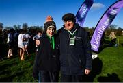 12 February 2020; Michael Hunt with Holly O'Brien during the Irish Life Health Leinster Schools' Cross Country Championships 2020 at Santry Demesne in Dublin. Photo by David Fitzgerald/Sportsfile