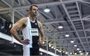 12 February 2020; Thomas Barr of Ireland prepares for the final of the Ireland's Hidden Heartlands Men's 400m event during the AIT International Grand Prix 2020 at AIT International Arena in Athlone, Westmeath. Photo by Sam Barnes/Sportsfile