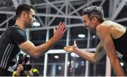 12 February 2020; Thomas Barr of Ireland, right, and Andrew Mellon of Ireland following the final of the Ireland's Hidden Heartlands Men's 400m event during the AIT International Grand Prix 2020 at AIT International Arena in Athlone, Westmeath. Photo by Sam Barnes/Sportsfile