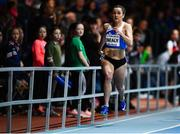 12 February 2020; Phil Healy of Ireland on her way to winning the final of the Hodson Bay Hotel Women's 200m event, in an Irish national indoor record time of 23.10, during the AIT International Grand Prix 2020 at AIT International Arena in Athlone, Westmeath. Photo by Sam Barnes/Sportsfile