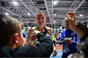 12 February 2020; Ciara Mageean of Ireland with supporters after winning the final of the TG4 Women's 3000m event, in a personal best time of 8:48.27, during the AIT International Grand Prix 2020 at AIT International Arena in Athlone, Westmeath. Photo by Sam Barnes/Sportsfile