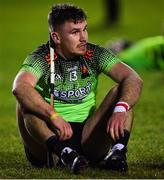 12 February 2020; Chris Nolan of IT Carlow dejected after the Fitzgibbon Cup Final match between UCC and IT Carlow at Dublin City University Sportsgrounds in Glasnevin, Dublin. Photo by Piaras Ó Mídheach/Sportsfile