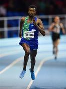 12 February 2020; Samuel Tefera of Ethiopia on his way to winning the AIT Mile event during the AIT International Grand Prix 2020 at AIT International Arena in Athlone, Westmeath. Photo by Sam Barnes/Sportsfile