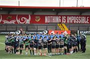 13 February 2020; The Ireland Senior and U20 teams huddle during Ireland Rugby Squad Training at Irish Independent Park in Cork. Photo by Brendan Moran/Sportsfile