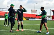 13 February 2020; Forwards coach Simon Easterby, left, with Peter O'Mahony and Bundee Aki during Ireland Rugby Squad Training at Irish Independent Park in Cork. Photo by Brendan Moran/Sportsfile