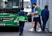 13 February 2020; Caelan Doris gets on the team bus after Ireland Rugby Squad Training at Irish Independent Park in Cork. Photo by Brendan Moran/Sportsfile