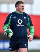 13 February 2020; Tadhg Furlong during Ireland Rugby Squad Training at Irish Independent Park in Cork. Photo by Brendan Moran/Sportsfile