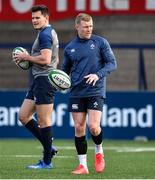 13 February 2020; Keith Earls, right, and Jacob Stockdale during Ireland Rugby Squad Training at Irish Independent Park in Cork. Photo by Brendan Moran/Sportsfile