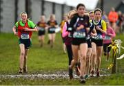 13 February 2020; Marie Wallace Kilrush CS, Clare, competing in the minor girls 2000m race during the Irish Life Health Munster Schools' Cross Country Championships 2020 at Clarecastle in Clare. Photo by Eóin Noonan/Sportsfile