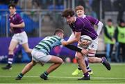 13 February 2020; Killian Fitzpatrick of Clongowes Wood College is tackled by Saul Fitzpatrick of St Gerards School during the Bank of Ireland Leinster Schools Senior Cup Second Round match between Clongowes Wood College and St Gerard's School at Energia Park in Dublin. Photo by Matt Browne/Sportsfile