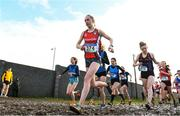 13 February 2020; Emma Landers of Pobalscoil na Tríonóide, Cork, competing in the intermediate girls 3000m race during the Irish Life Health Munster Schools' Cross Country Championships 2020 at Clarecastle in Clare. Photo by Eóin Noonan/Sportsfile