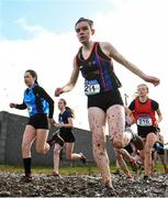 13 February 2020; Neasa Ni Ainifein of Ennis CC / Gaelcholaiste an Chláir, Clare, competing in the intermediate girls 3000m race during the Irish Life Health Munster Schools' Cross Country Championships 2020 at Clarecastle in Clare. Photo by Eóin Noonan/Sportsfile