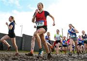 13 February 2020; Lydia Walshe of Glanmire CC, Cork, competing in the intermediate girls 3000m race during the Irish Life Health Munster Schools' Cross Country Championships 2020 at Clarecastle in Clare. Photo by Eóin Noonan/Sportsfile
