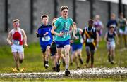13 February 2020; Daniel Lenane of St Augustines College, Waterford competing in the junior boys 3500m race during the Irish Life Health Munster Schools' Cross Country Championships 2020 at Clarecastle in Clare. Photo by Eóin Noonan/Sportsfile