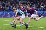 13 February 2020; Craig Kenny of St Gerards School scores a try during the Bank of Ireland Leinster Schools Senior Cup Second Round match between Clongowes Wood College and St Gerard's School at Energia Park in Dublin. Photo by Matt Browne/Sportsfile